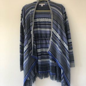Canyon River Blues cardigan with fringes size L